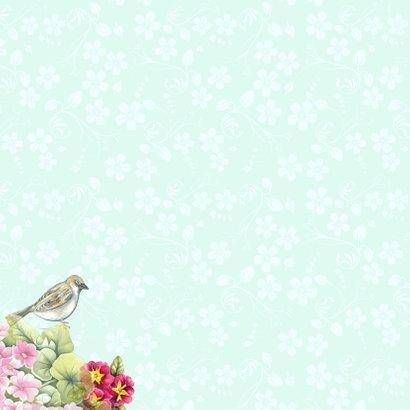 verhuiskaart vogelhuis bloemen 2