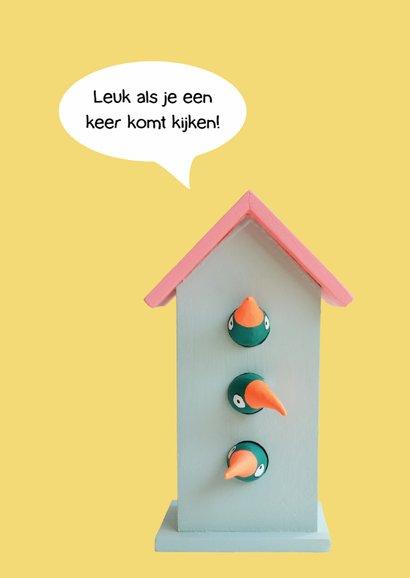 Verhuiskaarten vogelhuisje 2