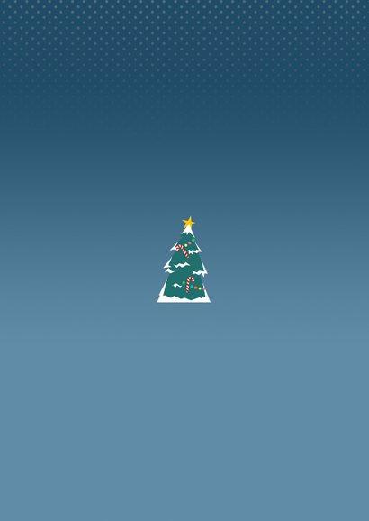 Verhuizing met kerst fotocollage Achterkant