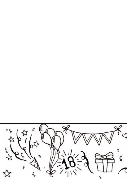 Verjaardag 18 handlettering - TS 2