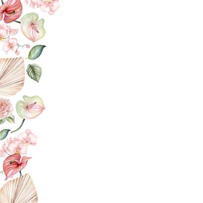 Verjaardag anthurium en orchidee 2