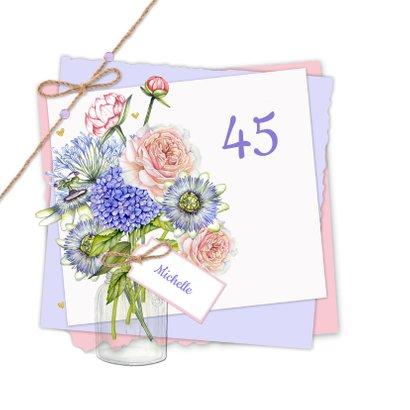 Verjaardag bloemen vaas 2