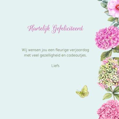Verjaardag boeket hortensiabloemen 3