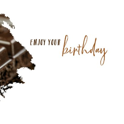 Verjaardag chocolate is a girl's best friend 3