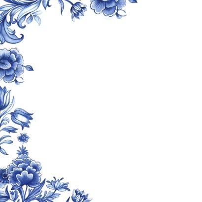 Verjaardag delfts blauw patroon 2