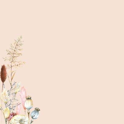 Verjaardag droogbloemen pampus 2