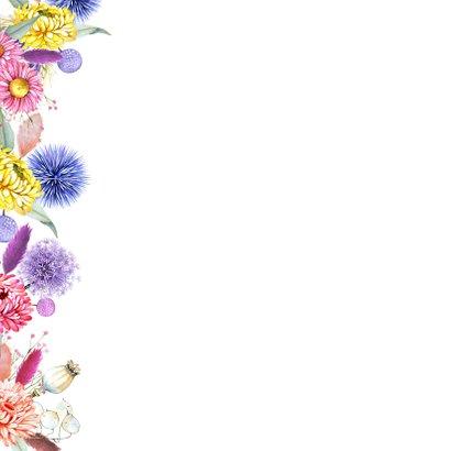 Verjaardag droogbloemenrand 2