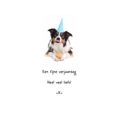 Verjaardag - Er is er één jarig hoera - Hond met foto 3