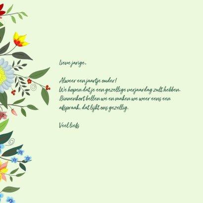 Verjaardag - fantasie bloemen 3