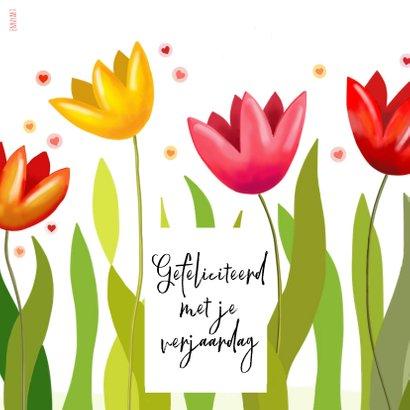 Verjaardag - Fantasie tulpen met feestbeestje 2