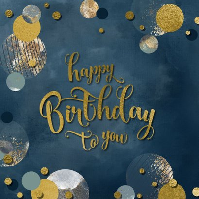 Verjaardag felicitatie wenskaart confetti man 2