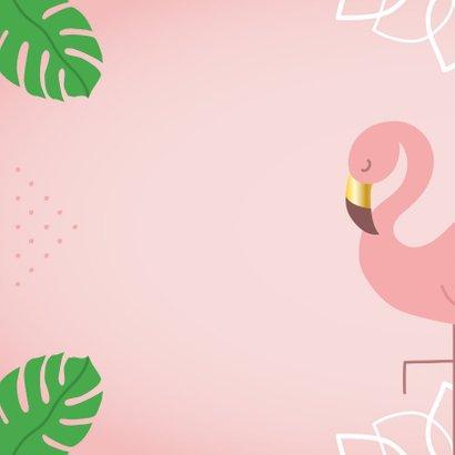 Verjaardag flamingo monstera bladeren 2