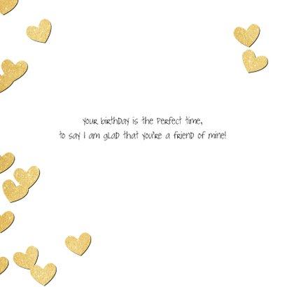 Verjaardag gouden hartjes - SV 2
