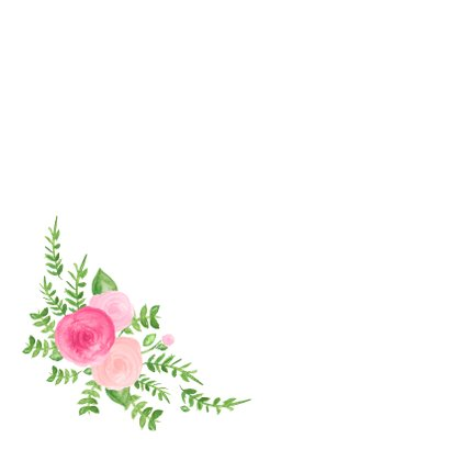 Verjaardag hoera bloemen - SU 2