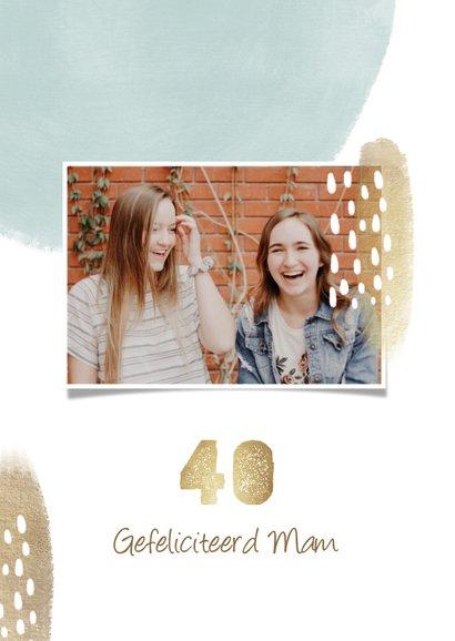 Verjaardag 'hooray' 40 jaar met verfstrepen goud 2