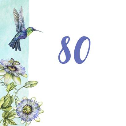 Verjaardag hummingbird tropisch 2