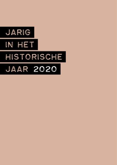 Verjaardag in het historische jaar 2020 2