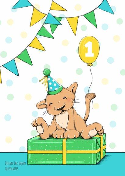 Verjaardag Kind Leeuw Feest Kaartje2go