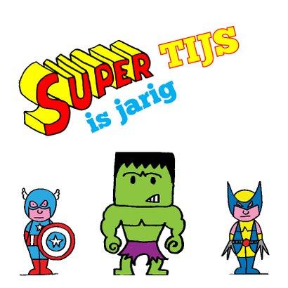 Verjaardag - kleurplaat superman 2