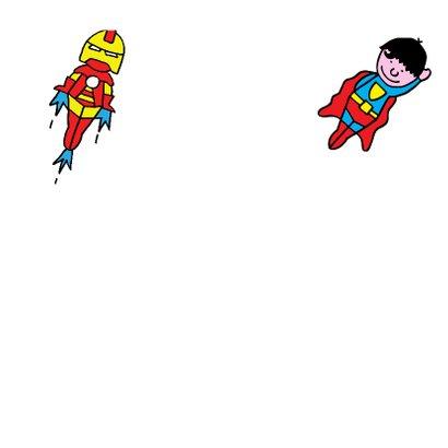Verjaardag - kleurplaat superman 3