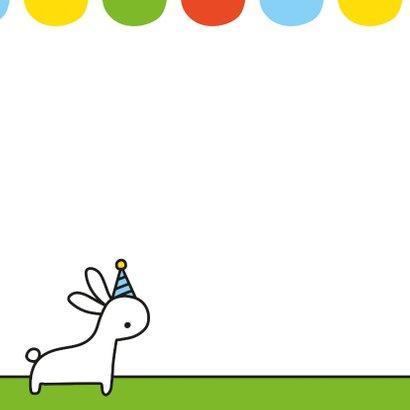 Verjaardag konijntjes en ballon 2