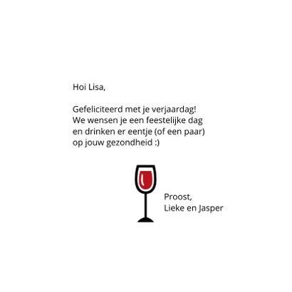 Verjaardag leeftijd en glazen wijn moet je nooit tellen 3
