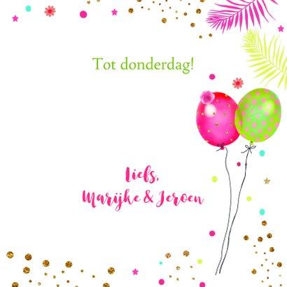 Verjaardag luiaard ballonnen 3
