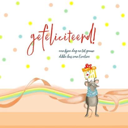 Verjaardag - muis met gebakje 3