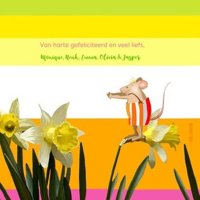 Verjaardag - Narcissen en muisjes 3