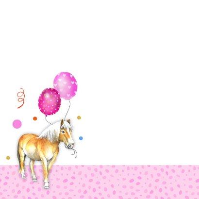 Verjaardag paardje ballonnen 2