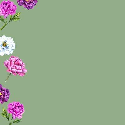 Verjaardag pioenrozen botanical 2