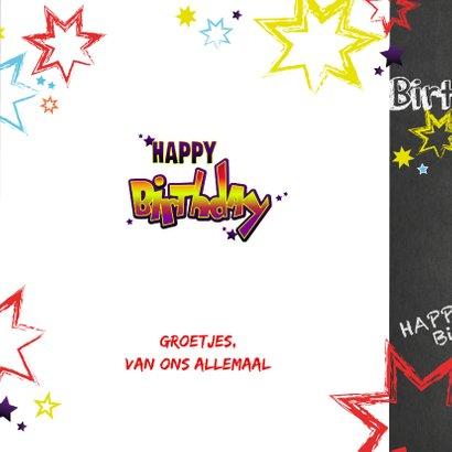 Verjaardag stoere felicitatie in graffiti stijl 3