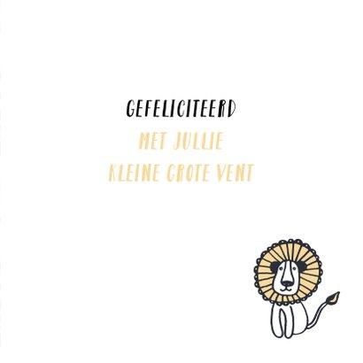 Verjaardag stoere leeuw 3