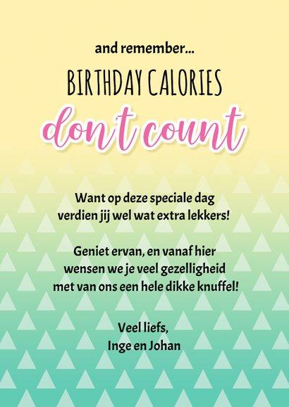 Verjaardag taartvorkjes met cake woordgrap 3