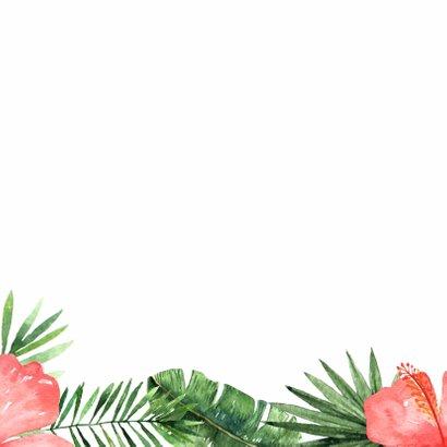 Verjaardag/uitnodigingkaart Tropical - WW 2