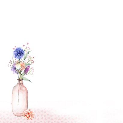 Verjaardag vaasjes droogbloemen 2