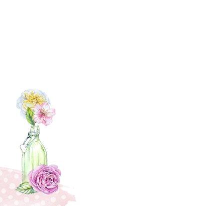 Verjaardag vaasjes rozen 2