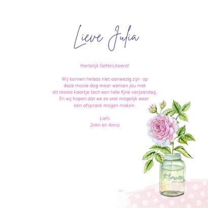 Verjaardag vaasjes rozen 3