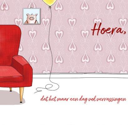 Verjaardag - varkentje in rode stoel 2