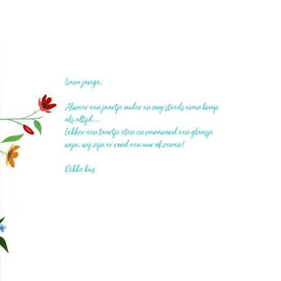 Verjaardag - Veel bloemen en twee muisjes 3
