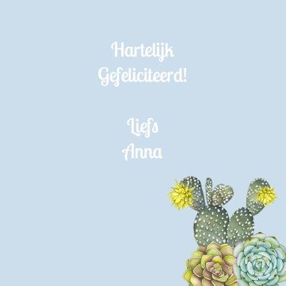 verjaardag vetplant cactus 3
