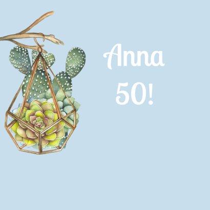 Verjaardag vetplant krans 2
