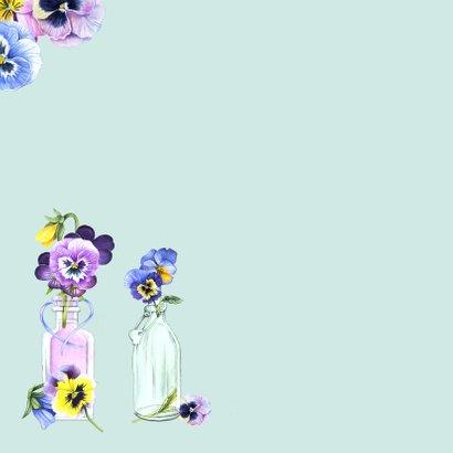 Verjaardag viooltjes in vaasjes 2