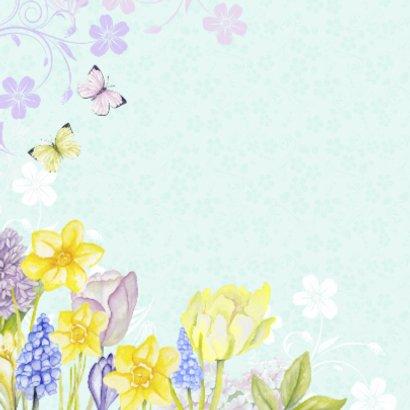 Verjaardag vogelhuis bloemen 2