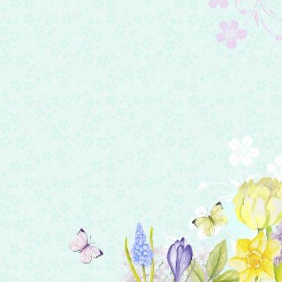 Verjaardag vogelhuis bloemen 3