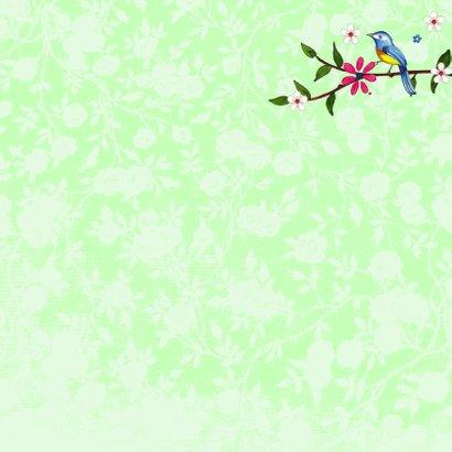 Verjaardag Vogels Bloem Vlinder 3