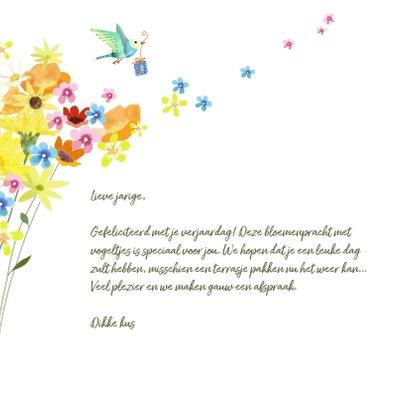 Verjaardag - Zomerbloemen en kleine vogeltjes 3