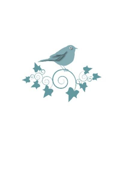 Verjaardagkaart Bird Ivy Groen 2