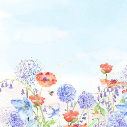Verjaardagkaart bloemenaquarel 2