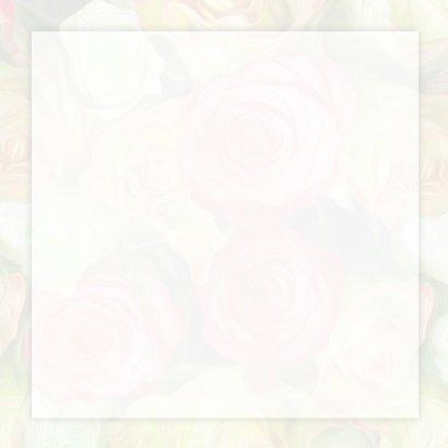 Verjaardagkaart lint en rozen 3